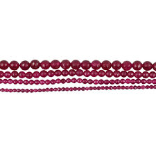 Fashion Pretty Faceted Ruby Jade Round Gemstone Loose Beads 15 Inch DIY Necklace