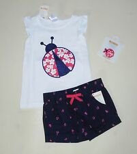Gymboree Girls Lady Bug Tank Shorts  4T NWT