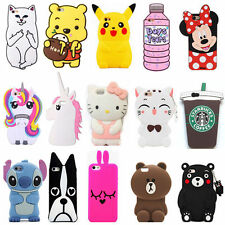 3D Cute Anime Rabbit Bear Cartoon Soft Silicone Case Cover Back Skin For iPhone