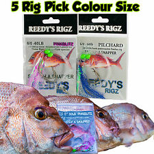5 Snapper Snatchers Fishing Rig Flasher Float Hook Paternoster Rigs Bait Lure