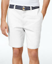NWT Club Room Men's Core Twill Pleat Front 9 Inch Shorts Bright White Size 38-42