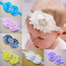 Baby Headbands Flower Children Imperial Crown Infant Toddler Girl Clips Hairband