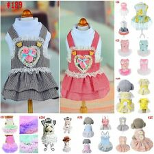Pet Dog Tutu Dress Doggy Cat Bow Lace Princess Skirt Puppy Summer Party Apparels