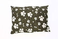 Chocolate Large & X Large Dog Bed With Removable Cover Filled Cushion & PolyPad