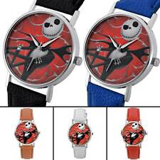 The Nightmare Before Christmas Retro Quartz Watch Leather Analog Wristwatch New