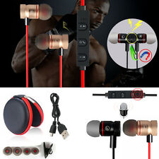 MD56 Magnetic Wireless Bluetooth Handsfree Headset Earphone For Cell Phone Apple