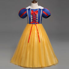 Kids Baby Girls Princess Snow White Fancy Dress Cosplay Party Costume Clothes