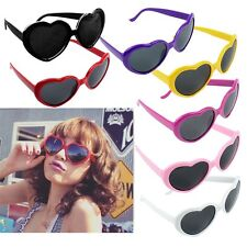 1/3pcs Retro Vintage Lolita Heart Shaped Aviator Plastic Frame Women Sunglasses