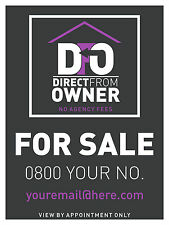 Direct From Owner FOR SALE or House Letting TO LET Estate Sign Boards x2