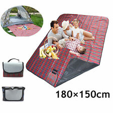 1.8MX1.5M Picnic Blanket Rug Outdoor Beach Camping Travel BBQ Rug Mat Waterproof