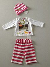 olive and moss baby girl cute outfitop and trouser t size 0-6 months