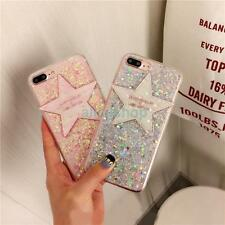 For iPhone 7 7 Plus 6 6S Cute Sparkle Glitter Stars Candy Jelly Soft Case Cover