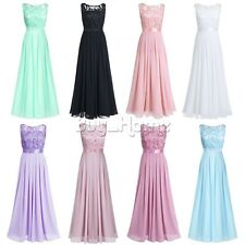 Womens Formal Long Chiffon Prom Evening Party Bridesmaid Wedding Maxi Dress