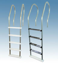 Blue Wave Stainless Steel Reverse Bend In-Pool Ladder for Above Ground Pools