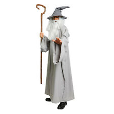 Lord of the Rings Hobbit Gandalf Costume Wizard CLOAK adult Robe Gray