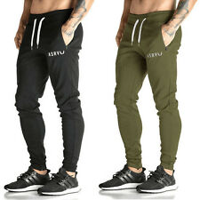 New Mens Training Running Slim Fit Trousers Bottoms Tracksuit Sport Sweat Pants