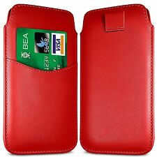 Card Slot PU Leather Pull Tab Flip Case Cover For Vodafone Smart 4 Turbo