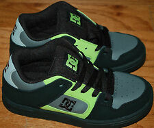 DC Brand Boys Shoes BLACK / GREEN SKATE SHOES Youth sizes 5.5 NEW