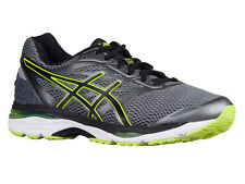 NEW MENS ASICS GEL-CUMULUS 18 RUNNING SHOES TRAINERS CARBON / BLACK / SAFETY YEL