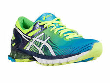 NEW MENS ASICS GEL KINSEI 6 RUNNING SHOES TRAINERS FLASH YELLOW / WHITE / BLUE