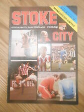 Stoke City Programmes Early 80's