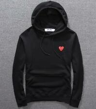 New Men's Comme Des Garcons CDG Play Hoodie Cotton red heart Sweater Play Coat