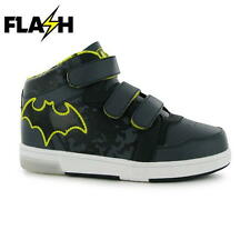 Boys Character Light Up Hi Top Trainers Batman New With Tags