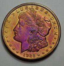 1921-S Morgan Dollar,  BETTER DATE , TONED 90% Silver Coin, No Reserve !!!