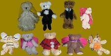 Variety of Costumed / Themed Teddy Bear Ornaments w/ Plush Fur & Movable Joints