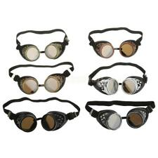 Men Steampunk Padded Cyber Goggles Glasses Welding Cosplay Cycling Fieldwork