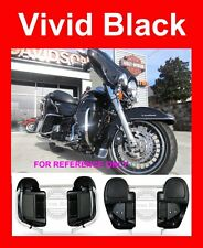 Vivid Black Lower Vented Fairings for Harley 2014-2017 Road Street Electra Glide