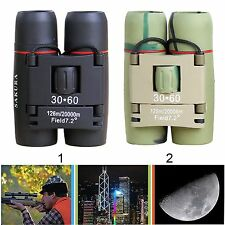 New Day& Night Vision 30 x 60 Zoom Travel Birding Folding Binoculars Telescope