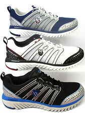 MENS K.SWISS TRAINERS BLADE-LIGHT RUN BLACK/SILVER, BLUE/SILVER & WHITE/BLACK