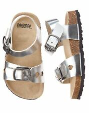 NWT Gymboree Tropical Breeze Silver Sandals Shoes SZ 13 Girls