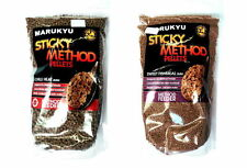 MARUKYU STICKY METHOD PELLETS FEEDER FISHING BAIT SWEET FISHMEAL/CHILLI HEAT10