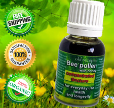 Organic Pure Bee Pollen capsules Immunity Energy Superfood Weight Loss Health