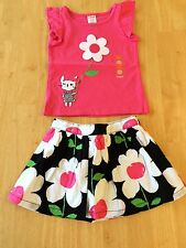 NWT Gymboree Daisy park Bunny Tee Shirt Top Skirt 2 pc set SZ 12 18 mo 3T,5T
