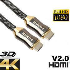 NEW Premium Ultra HD HDMI Cable v2.0 High Speed Ethernet HDTV 2160p 4K 3D