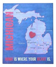 HOME IS WHERE YOUR HEART IS State Map Box Plaque w/ Heart Magnet, Choose a State