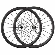 Light 700c 38mm Clincher Tubular carbon Fiber road bike wheels Bicycle wheelset