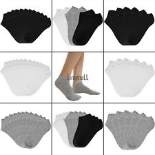 Women Cotton Breathable Low Cut Socks No Show Casual Socks Pack of 6/12 LM01