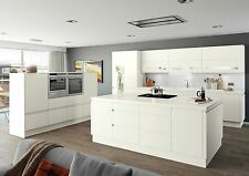 Moda White Matt Handleless Complete Flat Pack Kitchen Units,Kitchen Cupboards
