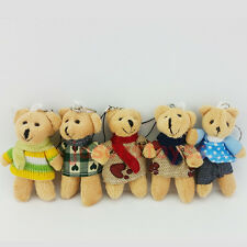 3.5'' Lovely Teddy Plush Bear Doll Keyring Bag Purse Key Chain Ring Pendant Gift