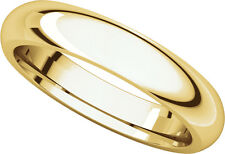 14K Yell. Gold, Comfort Fit Wedding Band 4MM sz 4-15