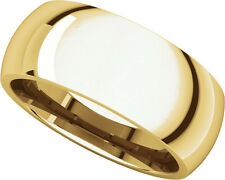 14K Yell. Gold, Comfort Fit Wedding Band 8MM sz 4-15
