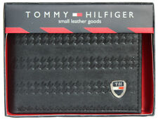 Tommy Hilfiger Black/Brown Leather Men's Wallet 708 FREE SHIPPING