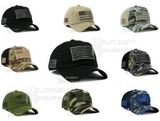 Low Profile Tactical Operator With USA Flag Patch Micro Mesh Cap Hat OSFM