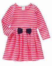 NWT Gymboree Best in Show Striped Long Sleeve Dress 12 18M,3T,4T,5T Toddler
