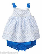 NWT Gymboree Coastal Breeze Blue Swing top bloomer set 0-3,3-6,12-18,18-24mo