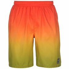MENS HOT TUNA YELLOW ORANGE RED LONG SWIMMING SWIM SURF BEACH BOARD SHORTS